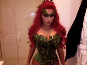 Kim Kardashian as Poison Ivy