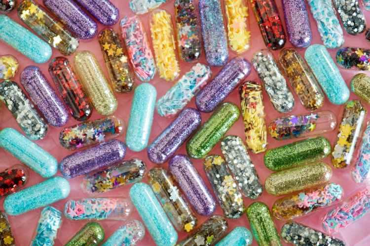 colourful capsules